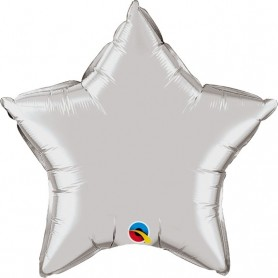 Chrome Foil Star - Silver 20 inch