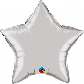Chrome Foil Star - Silver 20 inch