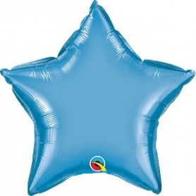 Chrome Foil Star - Blue 20 inch