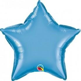 Chrome Foil Star - Blue 20 inch
