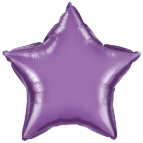 Chrome Foil Star - Purple 20 inch