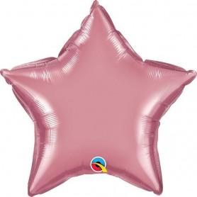 Chrome Foil Star - Mauve 20 inch