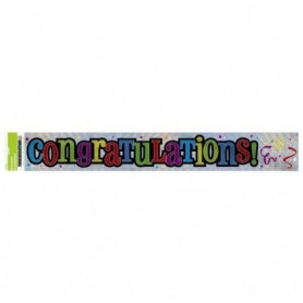 Congratulations - Foil Banner 12ft