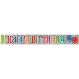 Happy Birthday - Foil Banner 12ft