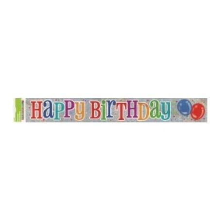Happy Birthday - Foil Banner 12ft