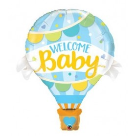 Welcome Baby Blue Balloon - Supershape