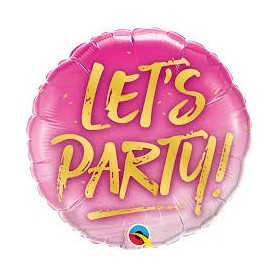 Let's Party - Qualatex 18 inch Foil Balloon