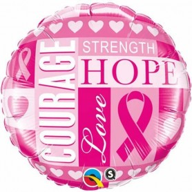 Breast Cancer Inspiration - 18 inch Foil Balloon