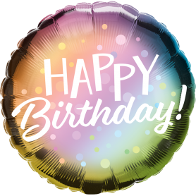 Happy Birthday  - Metallic Foil Balloon 18in.