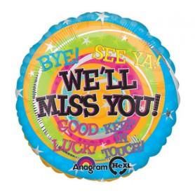 We'll Miss You Messages - 18 inch Foil Balloon