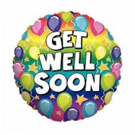 Get Well Rainbow - 18 inch Holographic Foil Balloon