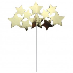 Stars - Metallic Gold Cake Topper