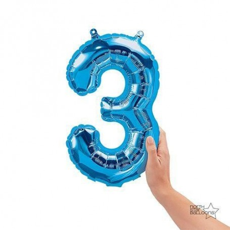 Number 3 Blue - 16 inch (Air Fill)