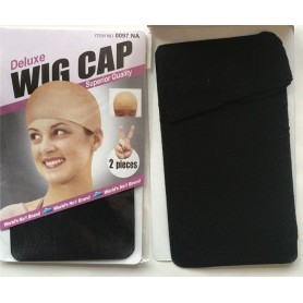 Deluxe Nylon Wig Cap 2 pack - Black