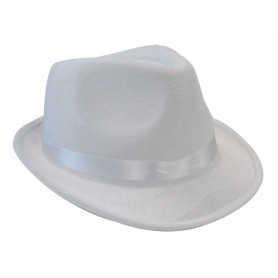 Fedora Gangster Hat - White