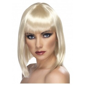 Short Blonde Blunt Glam Wig