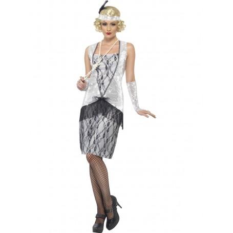 Silver Flapper Costume