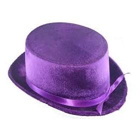 Velvet Top Hat - Purple