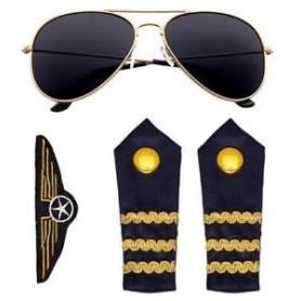 Aviator Kit - Glasses, Epaulettes & Badge