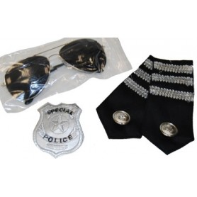 Police Kit - Glasses, Epaulettes & Badge