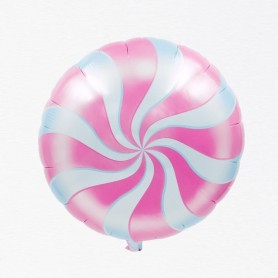 Candy Swirl 18 inch Foil Balloon - Pink