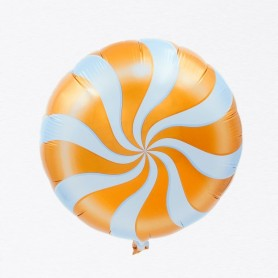 "Candy Swirl 18"" Foil Balloon - Orange"