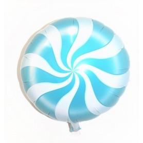 "Candy Swirl 18"" Foil Balloon - Blue"