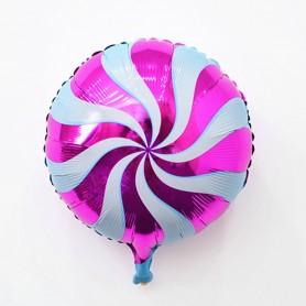 "Candy Swirl 18"" Foil Balloon - Magenta"