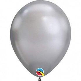 Chrome Silver Latex Balloons