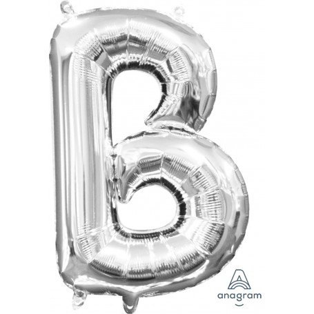 Letter B 16 in - Silver (Air-Fill)
