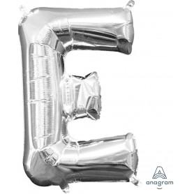 """Letter E 16"""" - Silver (Air-Fill)"""