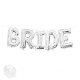 Bride Foil Balloon Banner Kit - Silver