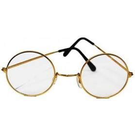 Lennon (Santa) Round Sunglasses - Clear
