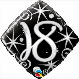 18th Elegant Sparkles and Swirls Foil Diamond -18 in.