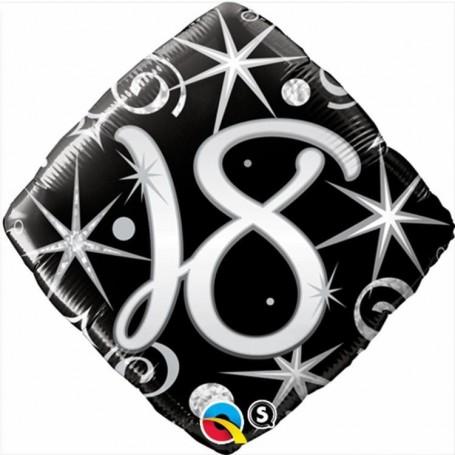 18th Elegant Sparkles and Swirls Foil Diamond -18 in.
