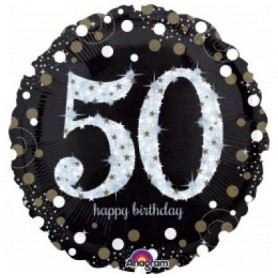50th Holographic Sparkling Birthday
