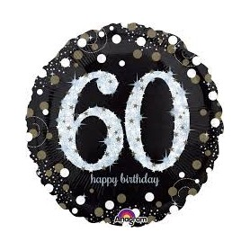 60th Holographic Sparkling Birthday