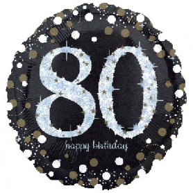 80th Holographic Sparkling Birthday