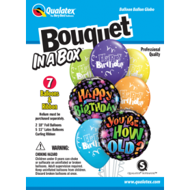 Bouquet in a Box - You're how old?- 7 Piece