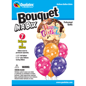 Bouquet in a Box - Ice Cream Cones - 7 Piece