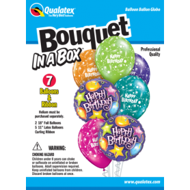 Bouquet in a Box - Happy Birthday - 7 Piece