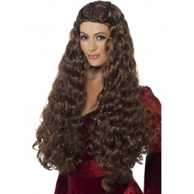 Medieval Princess Wig - Brown