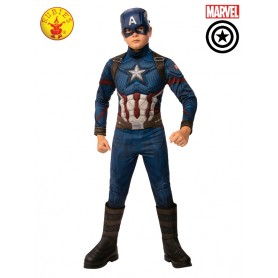 Captain America Deluxe Costume -Child 3 to10 Years