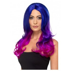 Wig - Fashion Ombre with Blue, Purple & Pink