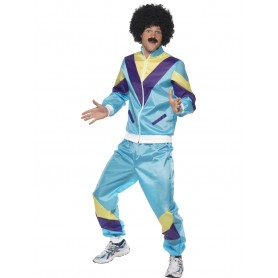 80's Blue Shell Suit Costume