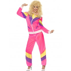 80's Pink Shell Suit Costume