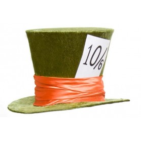 Mad Hatter Hat Deluxe Velvet - Green