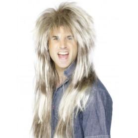 80's Mega Mullet Wig - Blonde and Brown