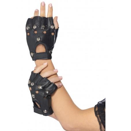Black Punk Gloves
