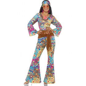 Hippy Flower Power Costume - Adult